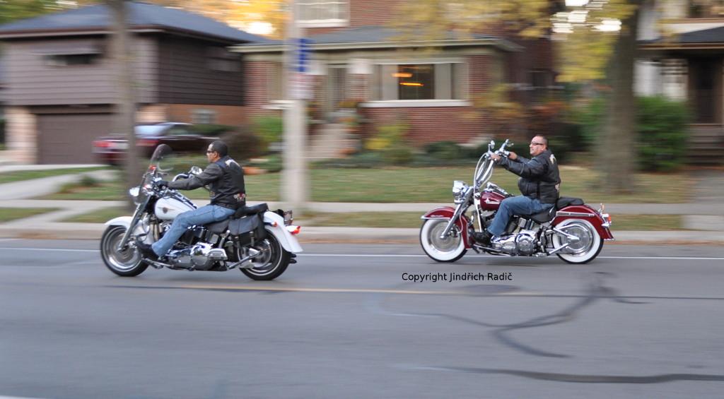 Motorkáři v Chicagu
